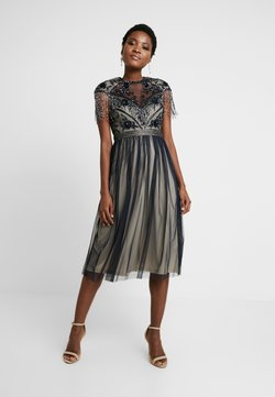 Lace & Beads - SAVANNA MIDI - Cocktailkleid/festliches Kleid - navy/cream