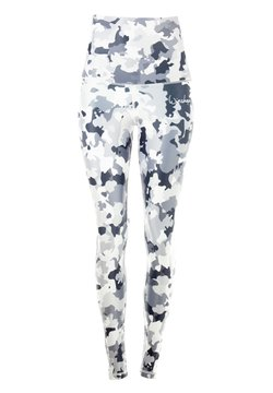 Winshape - HWL102 CAMO-BLUE HIGH WAIST -TIGHTS - Tights - camo white