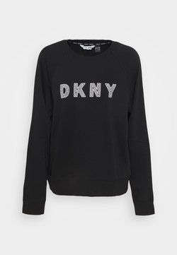 DKNY - EMBROIDERED TRACK - Collegepaita - black