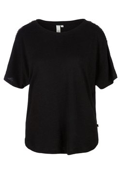 Q/S designed by - MIT PAILLETTEN - T-Shirt print - black