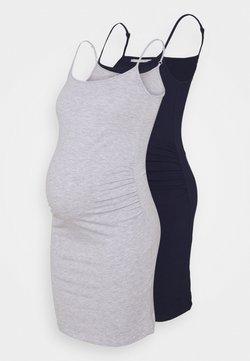 Anna Field MAMA - 2 PACK - Vestido ligero - dark blue/light grey