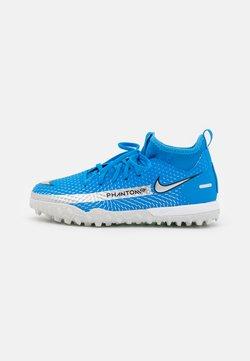 Nike Performance - JR PHANTOM GT ACADEMY DF TF UNISEX - Hiekkakengät - photo blue/metallic silver/rage green