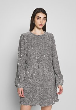 Nly by Nelly - BALLOON SLEEVE DRESS - Cocktailkleid/festliches Kleid - silver