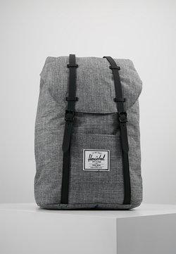 Herschel - RETREAT - Plecak - raven crosshatch / black rubber