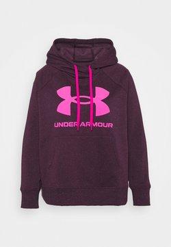 Under Armour - RIVAL LOGO HOODIE - Huppari - polaris purple