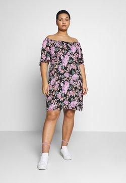Fashion Union Plus - ROSE DRESS - Vapaa-ajan mekko - black