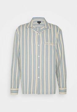 Club Monaco - WAFFLE STRIPE - Hemd - blue/vintage tan