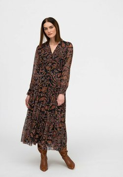 Hexeline - Długa sukienka - brąz