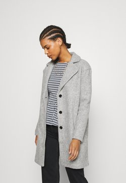 Vila - VIOLLY BUTTON COAT - Wollmantel/klassischer Mantel - light grey melange