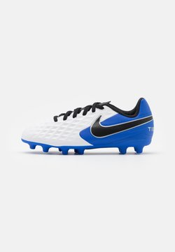 Nike Performance - TIEMPO LEGEND 8 CLUB FG/MG UNISEX - Fotbollsskor fasta dobbar - white/black/hyper royal/metallic silver