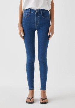 PULL&BEAR - Jeansy Skinny Fit - dark blue