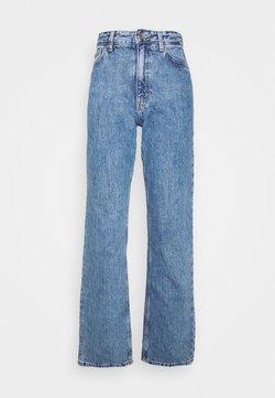 Monki - TAIKI STRAIGHT LEG - Straight leg jeans - blue medium dusty