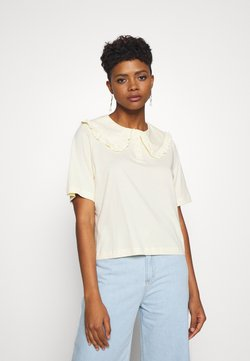 Monki - MAGNHILD TEE - T-shirt con stampa - solid yellow