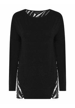 Live Unlimited London - ZEBRA PRINT BACK - Bluse - black