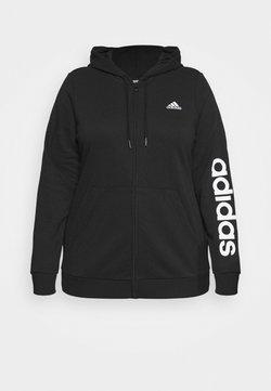 adidas Performance - Felpa con zip - black/white