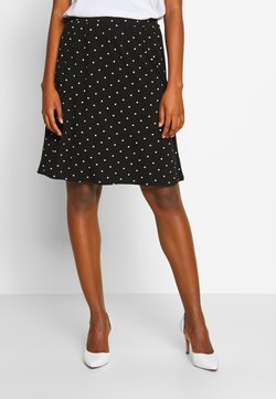 Kaffe - KAHAZEL SKIRT - A-Linien-Rock - black deep