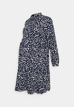 MAMALICIOUS - MLGLOMMA SHIRT DRESS - Vapaa-ajan mekko - navy blazer/snow white