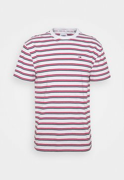 Tommy Jeans - TWO TONE STRIPE CLASSIC TEE - T-shirt con stampa - red