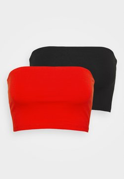 Gina Tricot - MILABANDEAU 2 PACK - Top - black/happy red