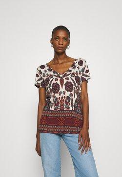 Desigual - BENIN - T-shirt con stampa - offwhite