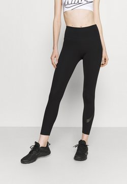 Nike Performance - NIKE ONE 7/8 - Tights - black/white