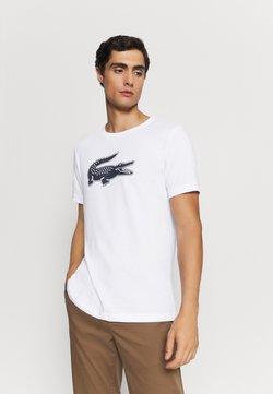 Lacoste - T-shirt imprimé - blanc/marine
