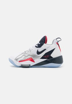 Jordan - ZOOM '92 UNISEX - Zapatillas de baloncesto - white/obsidian/true red/metallic silver/pure platinum