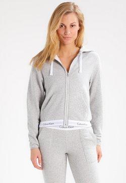 Calvin Klein Underwear - MODERN LOUNGE FULL ZIP HOODIE - veste en sweat zippée - grey