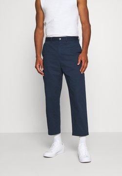 Weekday - MADISON TROUSER - Spodnie materiałowe - navy