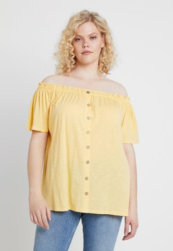 New Look Curves - BUTTON THROUGH BARDOT - Pusero - corn yellow