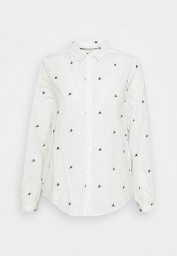 Springfield - CAMISA BORDADO FLORES - Bluse - white
