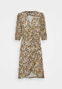 Soaked in Luxury - MELROSE WRAP DRESS - Freizeitkleid - multifloral ermine