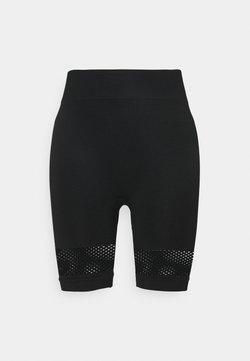 NU-IN - HIGH WAIST SHORTS - Legging - black