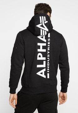Alpha Industries - BACK PRINT HOODY - Kapuzenpullover - black