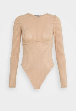 New Look - CARLEY SEAM DETAIL BODY - Langarmshirt - camel