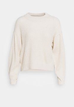Vero Moda - VMFURN LS BALLOON O-NECK  - Neule - birch