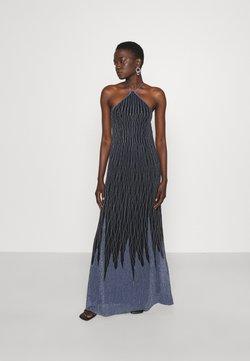 M Missoni - SLEEVELESS LONGDRESS - Robe de cocktail - black/powder blue