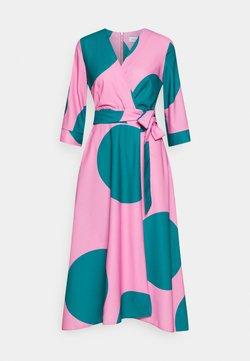 Closet - CLOSET HIGH LOW WRAP DRESS - Freizeitkleid - pink