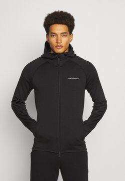 Peak Performance - CHILL ZIP HOOD - Fleecejacke - black