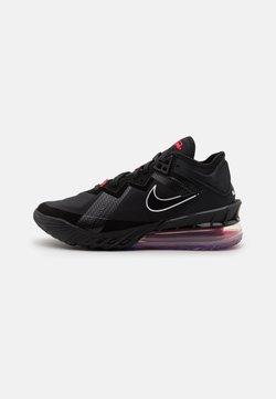 Nike Performance - LEBRON XVIII LOW - Chaussures de basket - black/white/university red