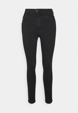 Diesel - SLANDY HIGH - Jeans Skinny Fit - washed black