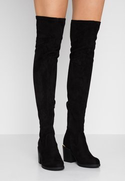 Even&Odd Wide Fit - Overknees - black