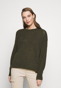 CLOSED - Strickpullover - shadow green