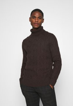 Pier One - Sweter - mottled dark brown