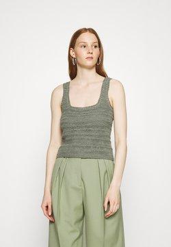 Abercrombie & Fitch - CROCHET VNECK TANK - Top - green
