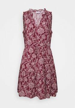 GAP Petite - ZEN EWAIST DRESS - Freizeitkleid - burgundy