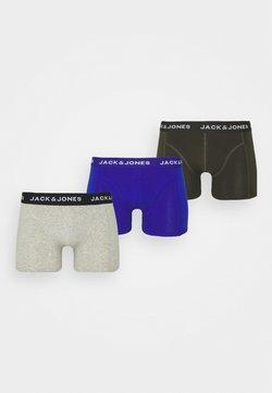 Jack & Jones - JACPLAIN TRUNKS 3 PACK - Panties - light grey melange/surf the web