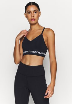 Under Armour - SEAMLESS LOW LONG BRA - Sport-BH mit leichter Stützkraft - black