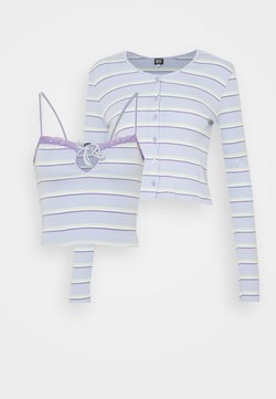 BDG Urban Outfitters - STRIPED CARDIGAN SET - Strickjacke - blue