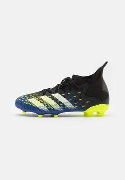 adidas Performance - PREDATOR FREAK .3 FG UNISEX - Botas de fútbol con tacos - coreblack/footwearwhite/solar yellow